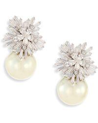 Fallon - Monarch Starburst Faux-pearl Drop Earrings - Lyst