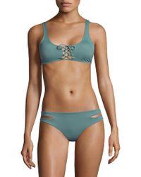 L*Space - Romi Lace-up Bikini Top - Lyst