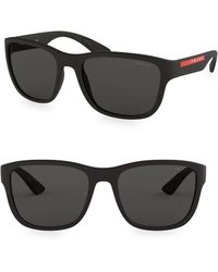 Prada - Men's Linea Rossa 59mm Wayfarer Sunglasses - White - Lyst