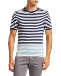 Saks Fifth Avenue - Modern Striped Merino Wool T-shirt - Lyst