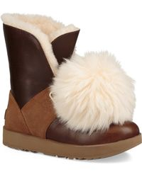 Ugg | Isley Sheepskin & Waterproof Leather Boots | Lyst