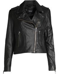 Lamarque - Women's Donna Leather Jacket - White - Lyst
