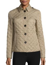 Burberry - Ashurst Diamond-quilted Jacket - Lyst