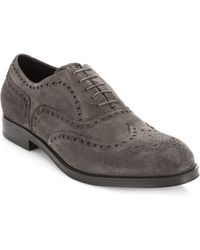 Giorgio Armani - Dress Lace Suede Brogues - Lyst