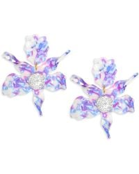 Lele Sadoughi - Mosaic Garden Crystal Lily Stud Earrings - Lyst