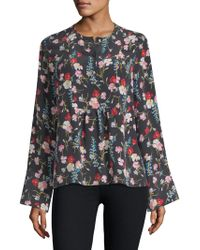Equipment - Heather Floral-print Blouse - Lyst