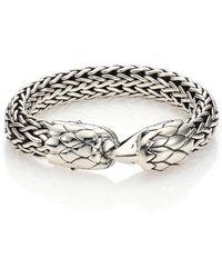 John Hardy - Legends Black Chalcedony & Sterling Silver Eagle Bracelet - Lyst