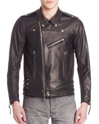John Elliott - Italian Leather Riders Jacket - Lyst