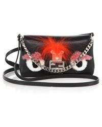 Fendi - Micro Leather, Rabbit Fur & Fox Fur Buggie Baguette - Lyst