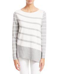 Saks Fifth Avenue - Collection Asymmetric Stripe Tunic - Lyst