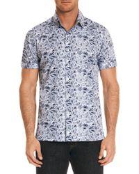 Robert Graham - Printed Short-sleeve Button-down Shirt - Lyst
