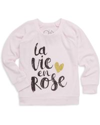 Chaser - Little Girl's & Girl's La Vie En Rose Sweatshirt - Lyst