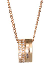Repossi - Antifer Pavé Diamond & 18k Rose Gold Four-row Pendant Necklace - Lyst