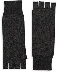 Saks Fifth Avenue - Collection Fingerless Metallic Cashmere Knit Gloves - Lyst