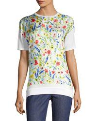 ESCADA - Serme Floral Wool-silk Top - Lyst