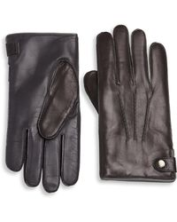 Saks Fifth Avenue - Collection Cashmere Lined Touch Tech Leather Glove - Lyst