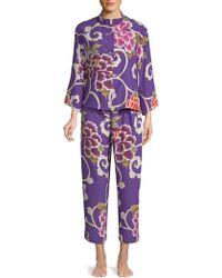 Natori - Two-piece Floral Pajama Set - Lyst