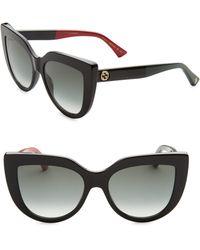 Gucci - 53mm Colorblocked Arm Cat Eye Sunglasses - Lyst