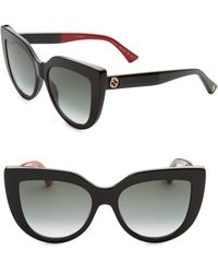 Gucci - Colorblocked Arm Cat Eye Sunglasses - Lyst