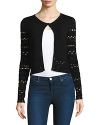 MILLY - Knit Lace Cardigan - Lyst