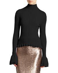 Cinq À Sept - Zabrina Bell-sleeve Knit Sweater - Lyst