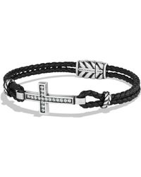 David Yurman - Pavé Cross Bracelet - Lyst
