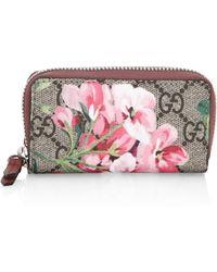 Gucci - Floral Key Case - Lyst