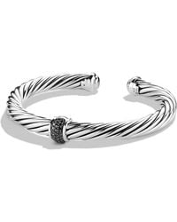 David Yurman - Cable Classics Bracelet With Black Diamonds - Lyst