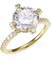 Adriana Orsini - 18k Yellow Goldplated Sterling Silver Framed Round Ring - Lyst