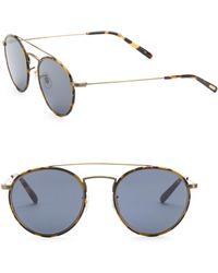 e0dc84da05d2 Oliver Peoples - Men s Ellice 50mm Oval Sunglasses - Brown Tortoise - Lyst