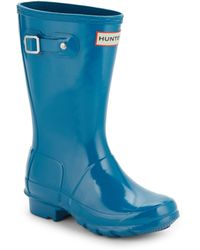 HUNTER - Kid's Glossed Rubber Rain Boots - Lyst