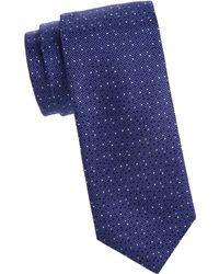 Canali - Fancy Dot Silk Tie - Lyst