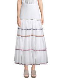 Carolina K - Iris Rainbow Maxi Skirt - Lyst