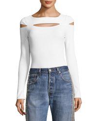 Kendall + Kylie - Peekaboo Long-sleeve Bodysuit - Lyst