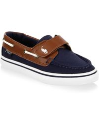 Ralph Lauren - Kid's Batten Leather-trim Deck Shoe - Lyst