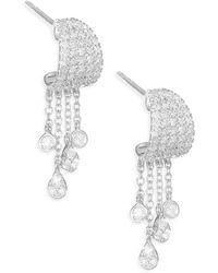 Meira T - 14k White Gold & Diamond Drop Earrings - Lyst