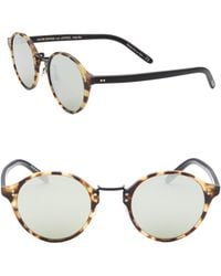 Oliver Peoples - Op-1955 48mm Round Sunglasses - Lyst