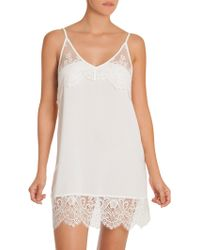 In Bloom - Darlin Lace-trimmed Chemise - Lyst