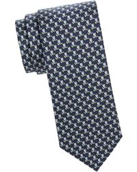 Ferragamo - Owls On A Branch Silk Tie - Lyst