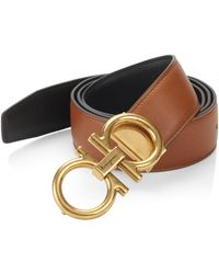 Ferragamo - Adjustable & Reversible Gancini Buckle Belt - Lyst