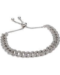 Fallon - Pave Curb Chain Bracelet - Lyst