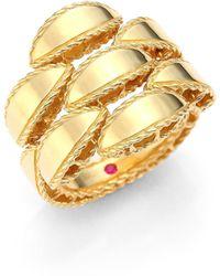 Roberto Coin - Retro 18k Yellow Gold Ring - Lyst