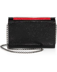 Christian Louboutin - Vanité Small Strass Leather Clutch - Lyst