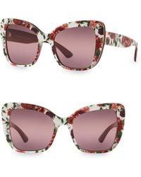 e586f86c758a Dolce   Gabbana Polarized Cat Eye Floral Filigree Sunglasses in ...