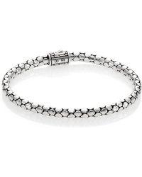 John Hardy - Dot Sterling Silver Slim Bracelet - Lyst