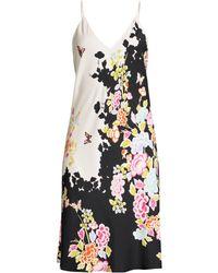 87c2becf2 Vince Gardenia Floral Pleated Twist Dress in Blue - Lyst