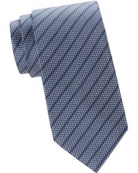 Brioni - Men's Regimental Striped Silk Tie - Yellow - Lyst