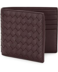 Bottega Veneta - Leather Woven Wallet - Lyst