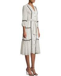 Shoshanna - Sandrelli Printed Button-front Dress - Lyst
