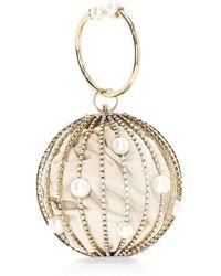 Rosantica - Women's Sasha Crystal Embellished Round Bar Clutch - Silver - Lyst